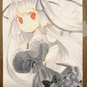 【手描きイラスト】白黒天使ちゃん