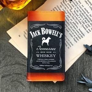 ウイスキーわんこの手帳型ケース(ジャックバウエル)