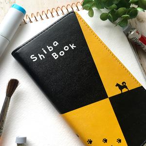 柴犬スケッチブックの手帳型スマホケース