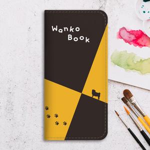 パグわんこスケッチブックの手帳型スマホケース