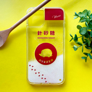 ハリネズミのキラキラお砂糖 グリッターケース はりねずみ スマホケース iPhone12