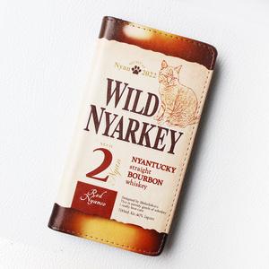 ウイスキーにゃんこの手帳型ケース(ワイルドニャーキー・バーボン)