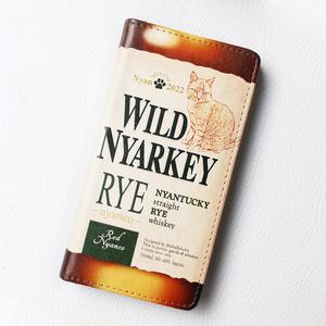 ウイスキーにゃんこの手帳型ケース(ワイルドニャーキー・ライ)