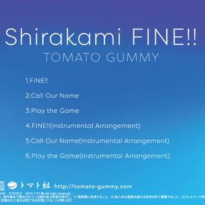 Shirakami FINE!!/トマト組 Feat. 白上フブキ【CD】