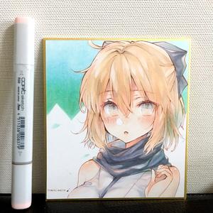 アナログ直筆ミニ色紙 FGO 沖田総司