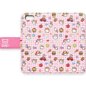 ハッピーハムちゃん(手帳型iPhoneケース)