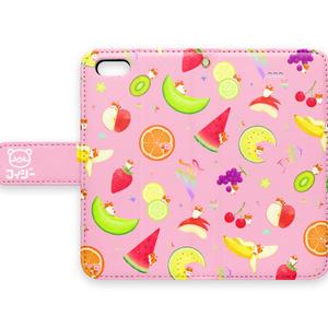 フルーツハムちゃん(手帳型iPhoneケース)