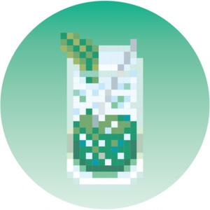 .BAR 缶バッジ壱弾 4:大葉と白ワインの和風モヒート