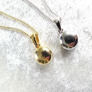 シンプルな大粒スワロフスキーネックレス バミューダブルー*選べる金具色