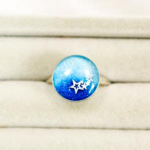 指の向こうの世界の指輪 ~夜明けの流れ星 フリーサイズ シルバー金具~
