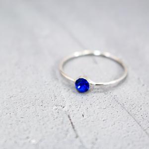 Something Blue Ring ~マジェスティックブルー、シルバー金具~