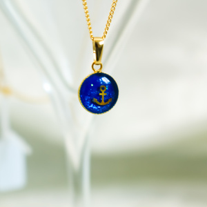 OSEAN BLUEのシンプルネックレス アンカー 金具の色が選べます