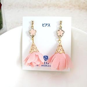【受注生産】春の桜タッセルピアス
