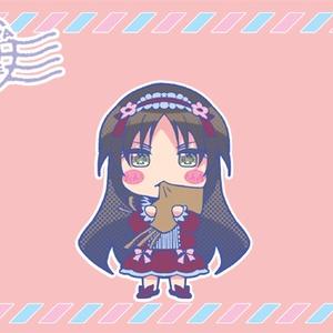 ちびキャラ織姫ランチトートバッグ(ライトピンク)