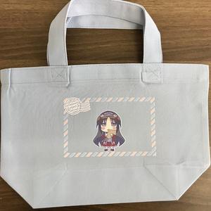 ちびキャラ織姫ランチトートバッグ(ライトブルー)