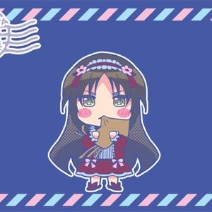 ちびキャラ織姫ランチトートバッグ(ロイヤルブルー)