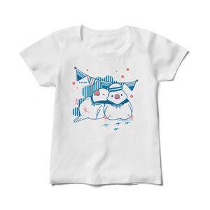 セーラー文鳥レディースTシャツ