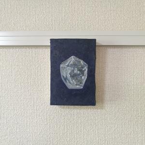 油絵『光る石』