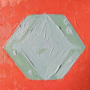 油絵『内包する石』