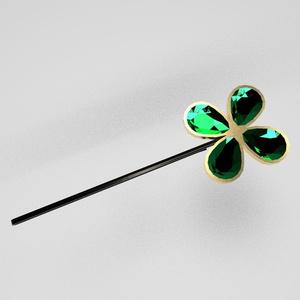 四つ葉のヘアピン - 4 Leaf hair pin