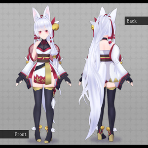 VRC向け3Dモデル【狐鈴 -Kosuzu- 】