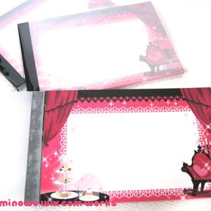 ピンクのゴシックメモ帳