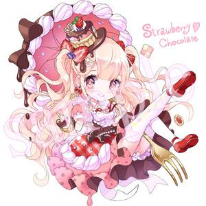 いちごチョコレート アクリルキーホルダー