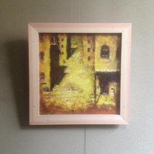 油絵レザーラビット13 階段の街
