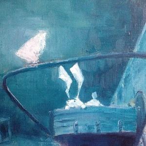 油絵レザーラビット2 青い夜