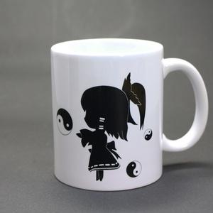東方プロジェクト 博麗霊夢 モノクロマグカップ