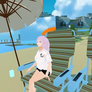 【VRoid】衣装テクスチャ ぱんだTシャツ(男女)