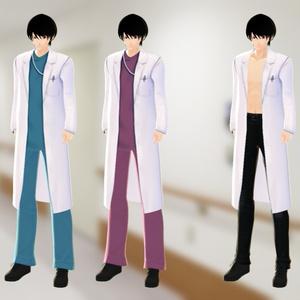 【VRoid】衣装テクスチャ 医者・白衣