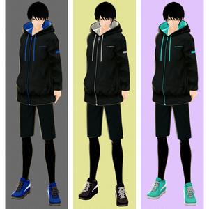 VRoidテクスチャ パーカーorハーフパンツorスカート カラバリ10色