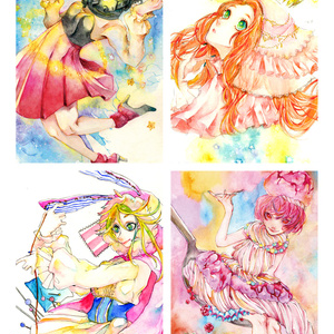 Post card (comic illustration)