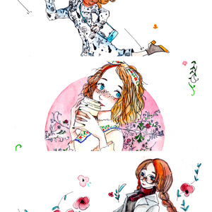 Post card (Red hair girl)