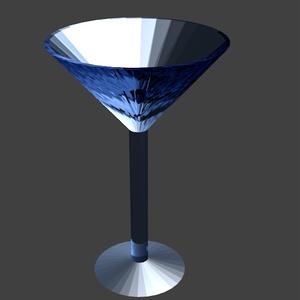 カクテルグラス(blenderによるモデリング)