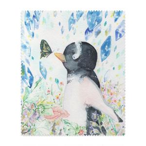 ペンギンと蝶 メガネ拭き