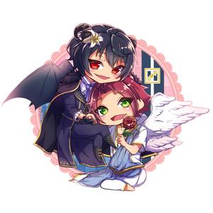 りつまお悪魔と天使 アクリルスタンド