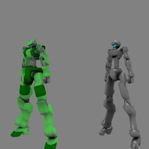 【VRChat】オリジナル3Dモデル「アサルトフレーム001:テトラ」