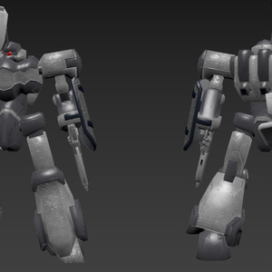 オリジナル3Dモデル:主力量産機「ゲ・スゥ」