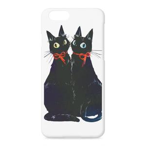 双子の黒猫iPhoneケース