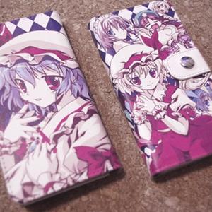手帳型スマホケース(レミフラと紅魔館の仲間達)Android iPhone