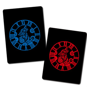 CLOCKWORK IMMORTALITY WRISTBAND (BLUE / RED)
