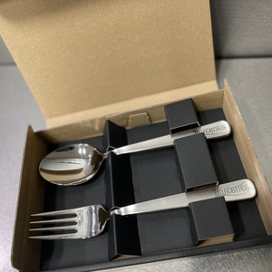 FORK & SPOON (with LASER ENGRAVED LOGO) (LBZZ-0571)