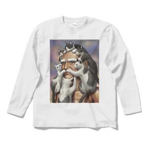 猫じじいロングスリーブTシャツ