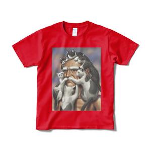 猫じじいTシャツ(赤)