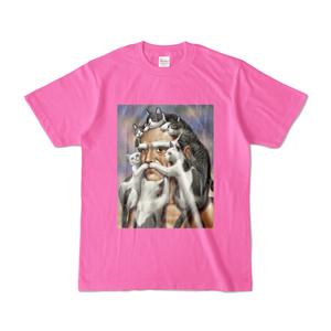 猫じじいTシャツ(ピンク)