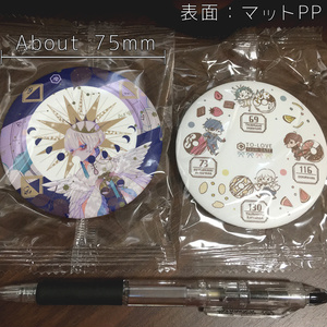 【515M】 缶ミラー(缶バッジミラー)【オリジナル】