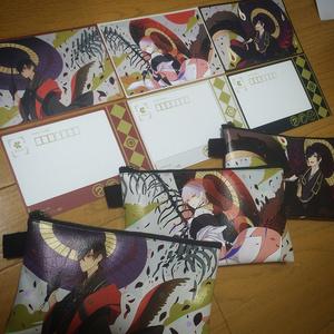 【515M】 繋がる伊達組 ポストカード 3種セット【刀剣乱舞】