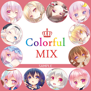 【ましろ】イラスト本:ColorfulMIX【東方】